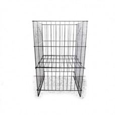 "Grid Dumpbin With Adjustable Bottom 18""L X 18""W X 30""H"