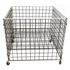 "36"" X 36"" X 30"" Grid Dump Bin With Casters And Adjustable Shelf"