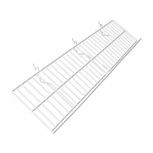 10 u0026quot d x 46 u0026quot l slatwall   gridwall   pegboard wire shelf with 2
