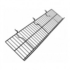 "12""D X 46""L Slatwall/ Gridwall/ Pegboard Wire Shelf With 2"" Lip P.O.P. Display (5 PER BOX)"