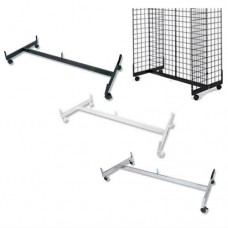 4 Ft H SHape Gondola Base Knock-Down For Gridwall With Casters