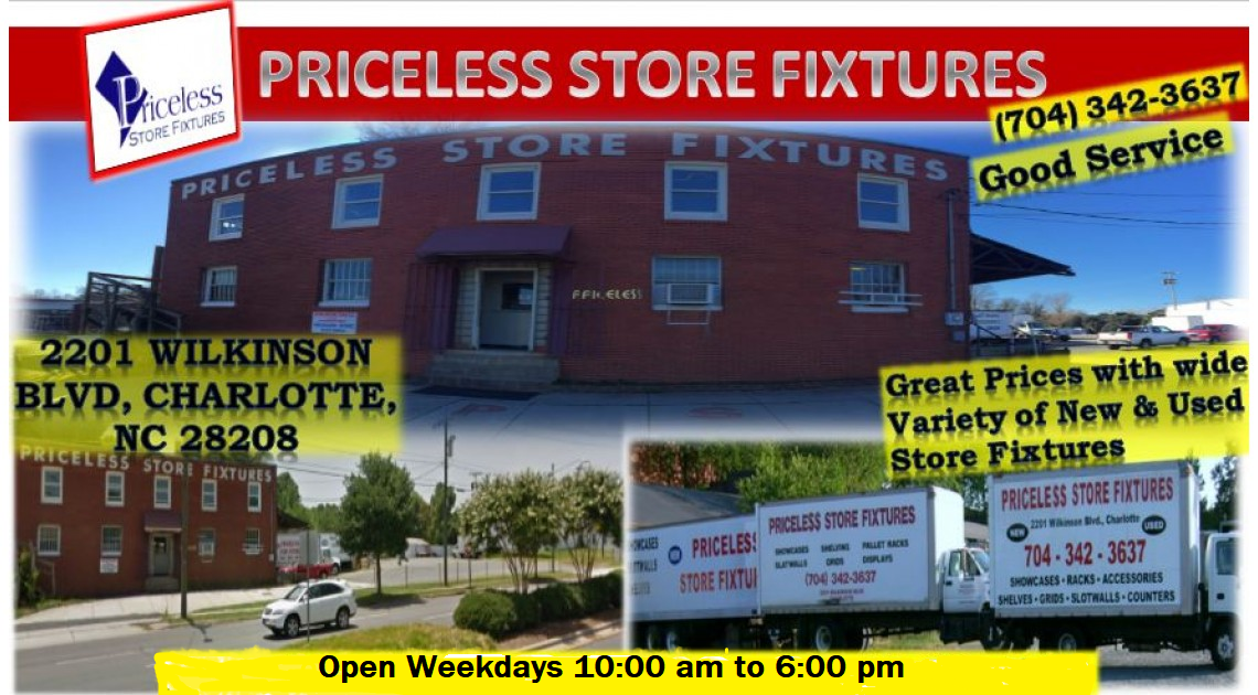 Priceless Store Fixtures |New & Used Store Fixtures| Pallet ...