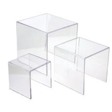 Large Plexi Glass Risers (Set of 3)