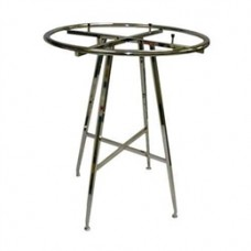 "42"" Folding Round Rack With 1-1/4"" Diameter Round Tube Ring"