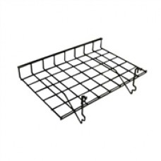 "Slatwall/Gridwall/Pegboard Straight Shelf 15"" Deep X 24"" Long With Lip"