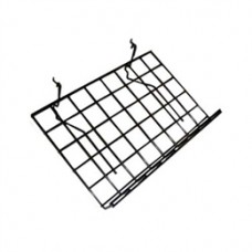 "Slatwall/Gridwall/Pegboard Slanted Shelf 15"" D X 24"" L With Lip (5 PER BOX)"