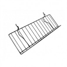 "Gridwall/Slatwall/Pegboard Wire Shelf 10""D X 23""L With 2"" Lip (5 PER BOX)"