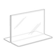 "Horizontal Plexi Card Holder Bottom Load 3-1/2""H*5-1/2""W"