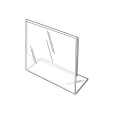 "Horizontal Plexi Card Holder Slant Back 3-1/2""H*5""W"