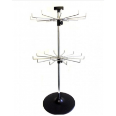 2 Tier 12 Hooks Spinner Rack