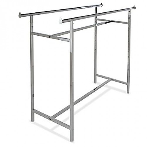 "Rack Straight Double Bar 60"" Long Adjustable 48"" - 72"" High"