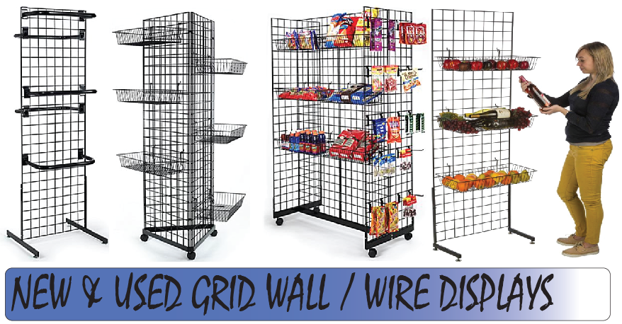 Grid Wall Panel Wire Displays New Amp Used Priceless Store
