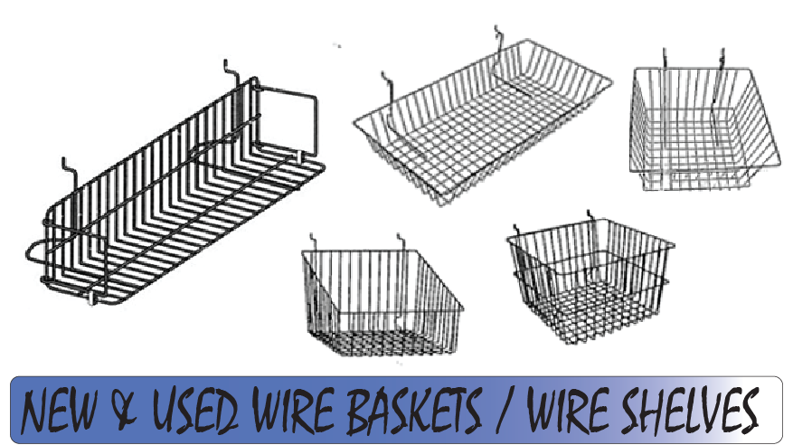 Wire Baskets & Wire Shelves